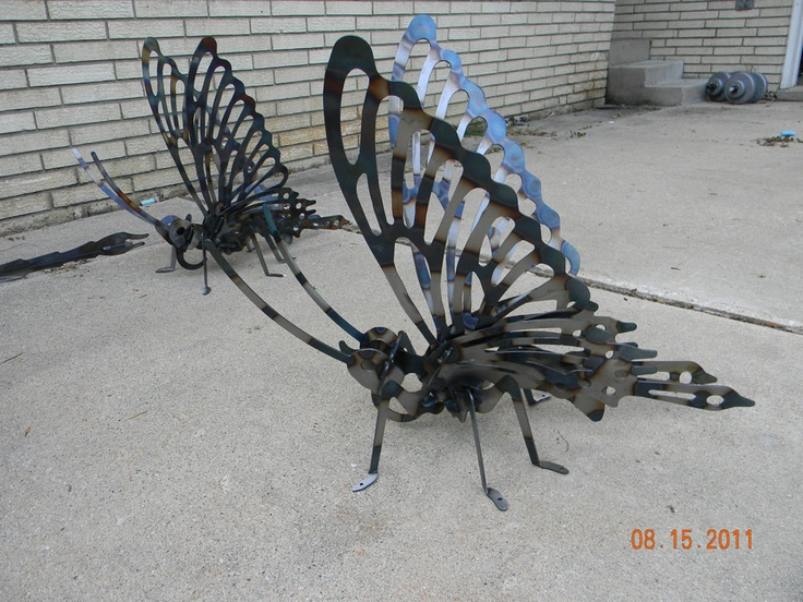 Metal Art Metal Quot Butterfly Metalart Yard Art Garden