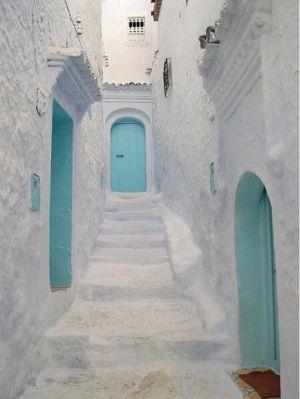 Dos colores, ¡Un amor!: The Doors, Blue Doors, Color, Tiffany Blue, Turquoise Doors, Aqua Doors, Pink Doors, White Wall, Turquoi Doors