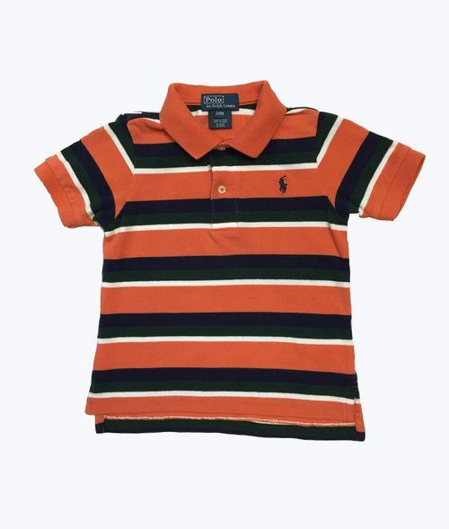 a431ae45 Polo Ralph Lauren - Orange Navy Striped Pique Polo Shirt, Baby Boys - Shop  designer baby + toddler clothes for less at Berri Kids Online.