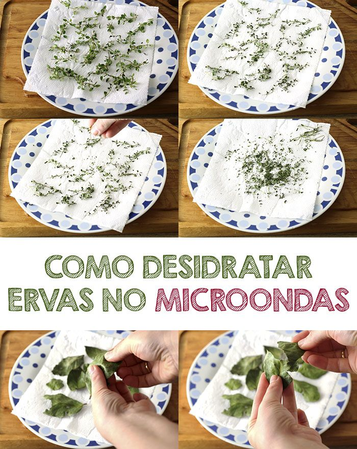 COMO DESIDRATAR ERVAS - Dica de como desidratar ervas no microondas, super rápido e fácil   temperando.com #dicasdecozinha #ervas #temperos