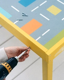 street design painted kids tabletop... for cars