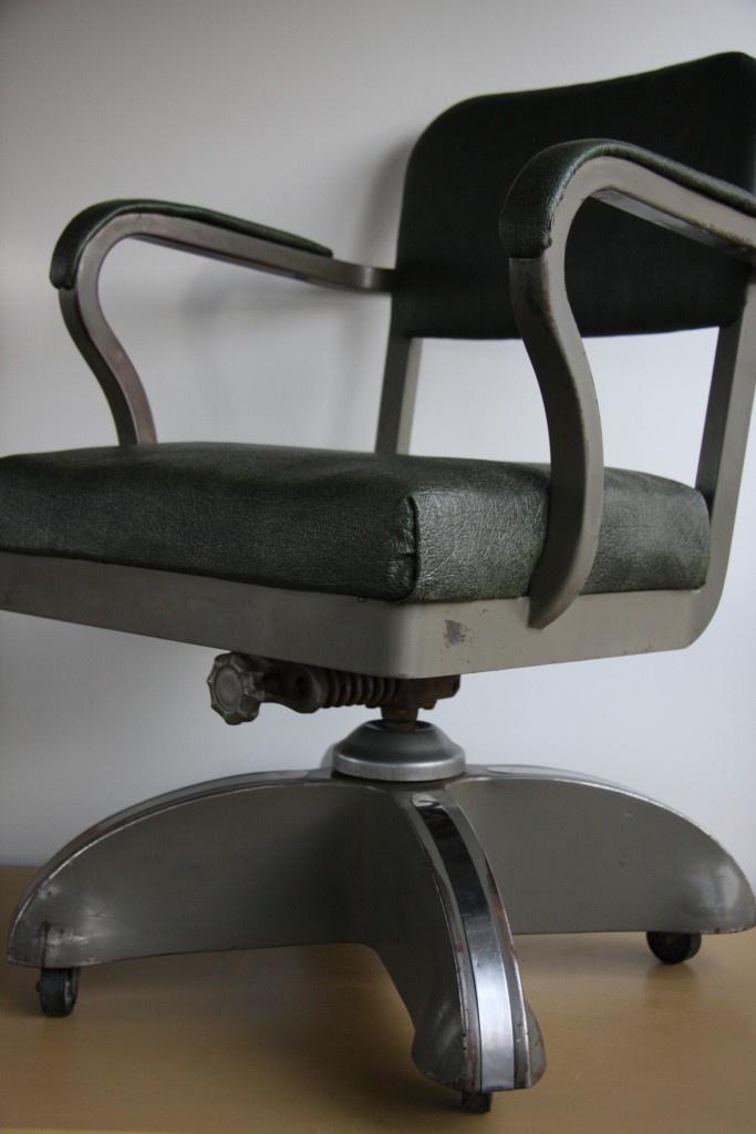 VTG Machine Age Mid Century Modern RETRO Industrial Tanker Desk Office Chair