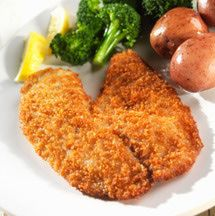 Baked fish recipe with Parmesan cheese. Fish fillets are baked with a bread crumb and Parmesan cheese topping.