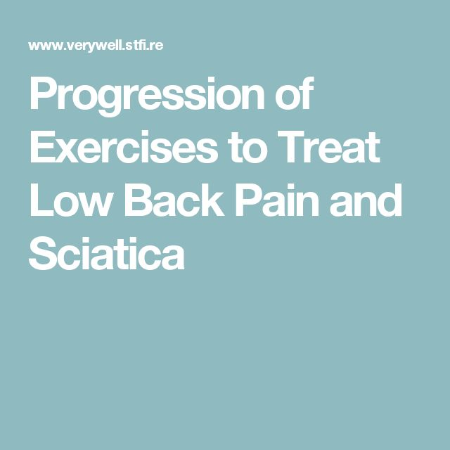 Progression of Exercises to Treat Low Back Pain and Sciatica