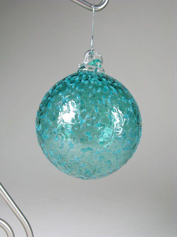 Blue Glass Christmas Ornaments