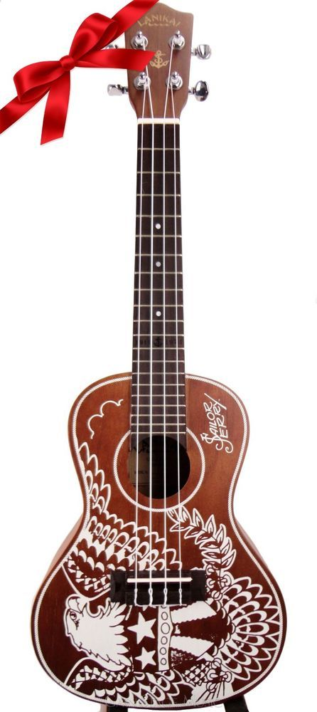 Lanikai LUSJ-C ukulele Concert Sailor Jerry Mahogany with gigbag #Lanikai