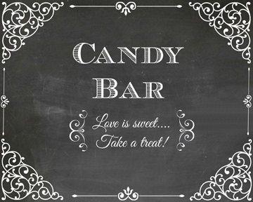 8x10 stampabile Candy Bar nozze stampa damascata e lavagna amore di stile è dolce prendere una idea di decorazione ossequio candy buffet foto