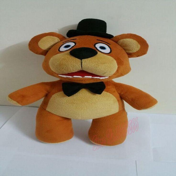 "New Hot Sale Five Nights At Freddy Fazbear Bear Plush Toys Doll Station 15""Kids Toys Inside Out Plush Stuffed bear Free Shipping"
