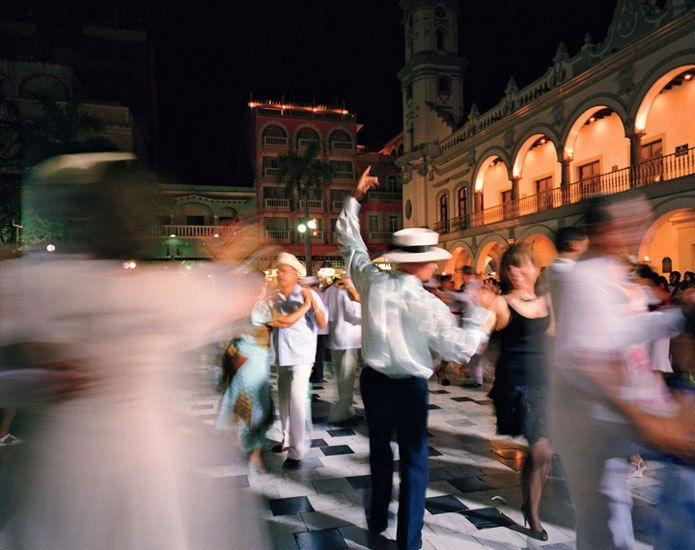 Every evening the Zócalo, Veracruz's main plaza, becomes an open-air dance floor where a thirty-man band plays everything from samba to merengue to the local zapateado. Don't be shy.