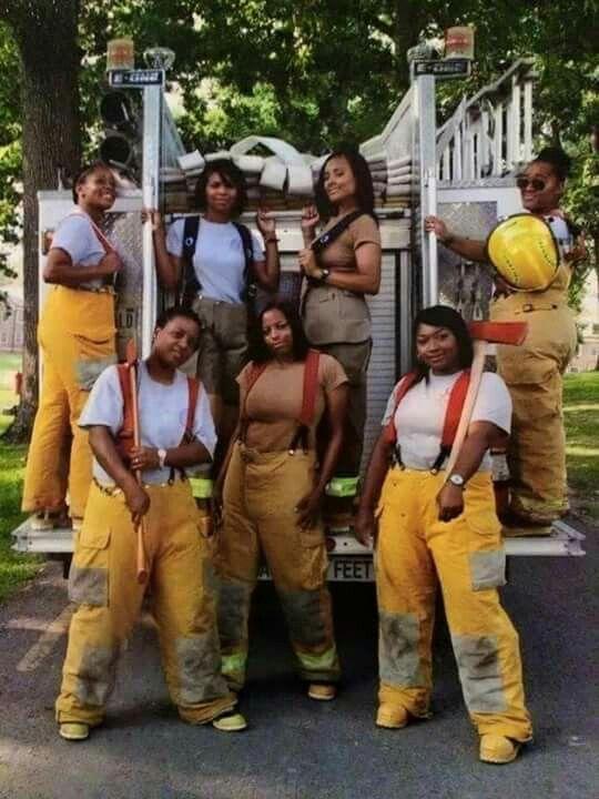 Black female fire fighters!