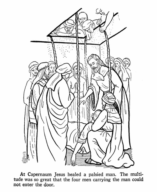 Bible Coloring Pages Jesus Teaching