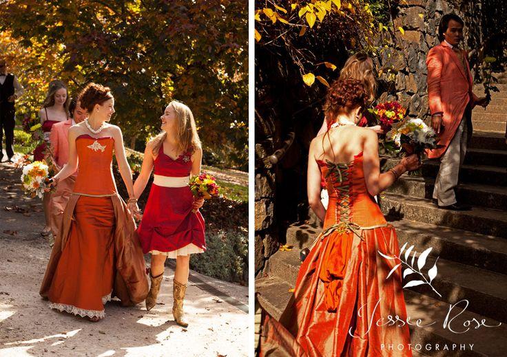 Dale & Christopher @ Jessie Rose Photography, autumn, wedding, bride, groom, love, diy, silk, orange, bridesmaid