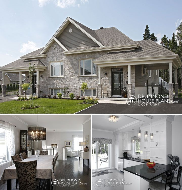 Tiny Home Designs: Custom Country Duplex Plan By DrummondHousePlans. Http