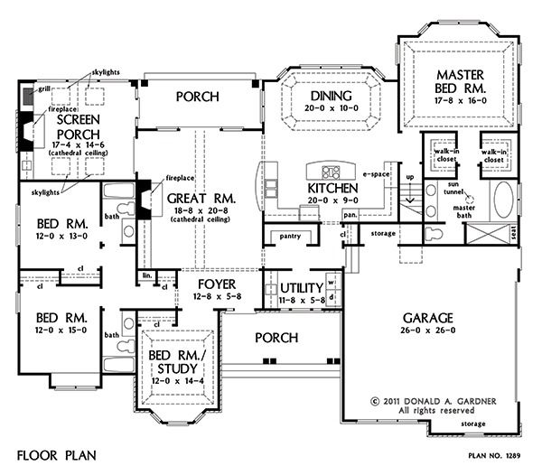 Open Floor Plans Open Home Plans: 2453 Ft2. Switch Up Bathroom By Screened Porch To Make