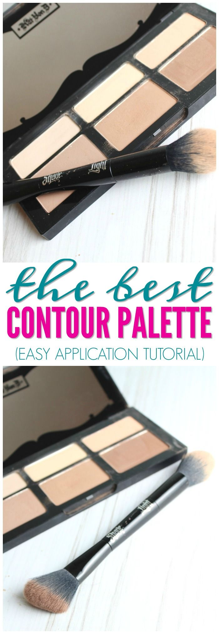 The Best Contour Palette for Summer! Here is my honest review of the Kat Von D Shade + Light Contour Palette and Brush! A favorite for summer or wedding makeup!