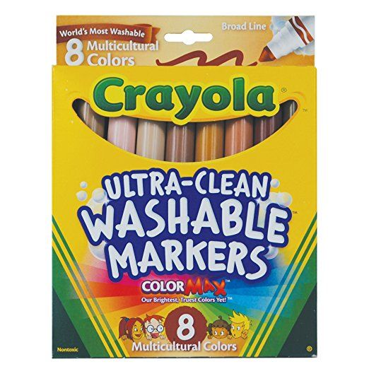 Crayola Markers, Multicultural Washable, 8-Count