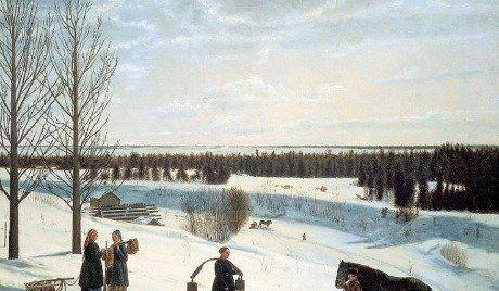 Paisaje invernal en el arte ruso