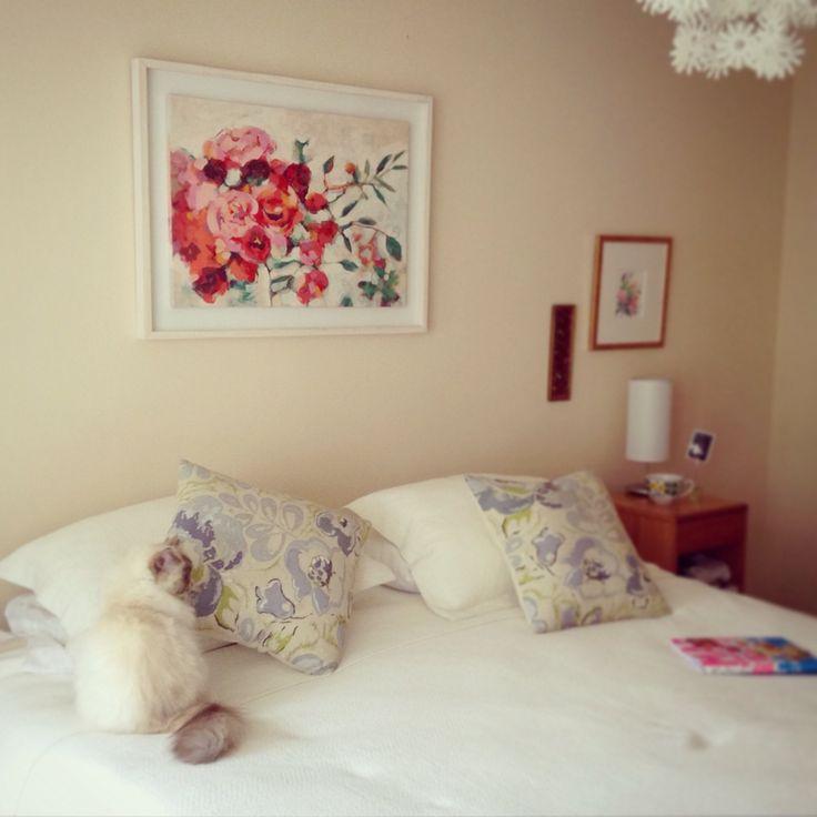 En casa <3 Acrílico sobre tela Serie Flores  Instagram @costajung