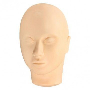 Eyelash Training Mannequin Flat Head Practice Makeup Eye Lashes Extension