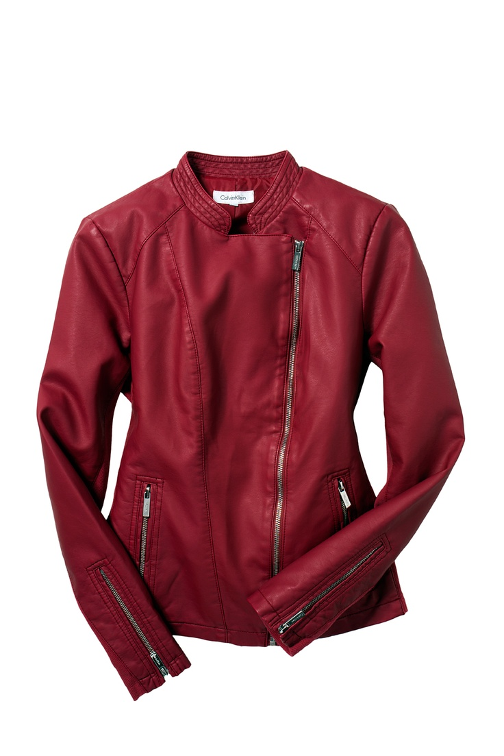 For Her: Calvin Klein #moto #jacket #leather #macys BUY NOW!