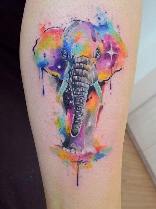 Watercolours Increibles Efecto De Acuarela Tatuajes
