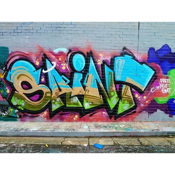 "148 Likes, 2 Comments - Thefoewizzle (@foewizzle) on Instagram: ""#saint #sydneygraffiti #graffiti #graffheads #graffitiart #graffitiworld #instagraff #lettering…"""