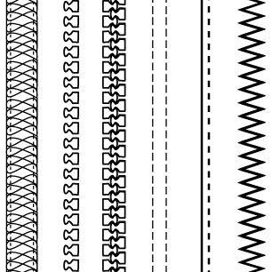 Free Adobe Illustrator Fashion Brushes: Zippers & Stitching