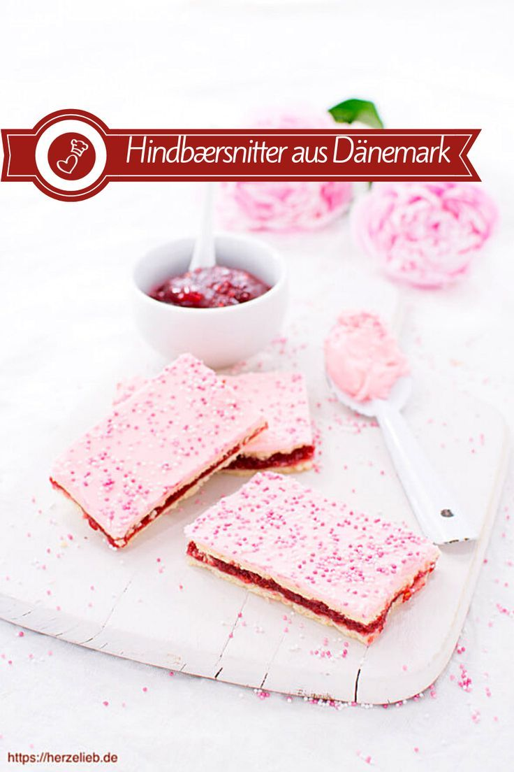 Hindbærsnitter – Rezept für dänische Himbeerschnitten