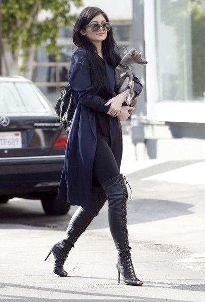 Kylie Jenner Photos - Kylie Jenner Shops with Her Dog - Zimbio