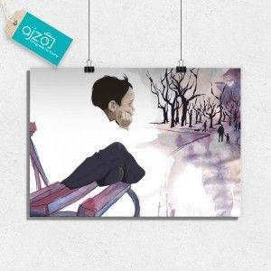 Plakat Chłopiec w parku 70x50cm