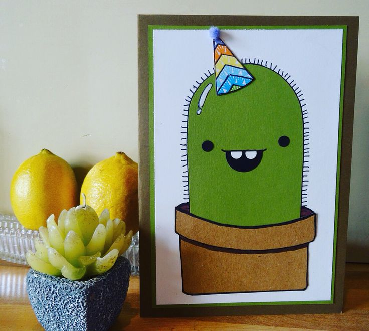 My finished Cactus card for my daughter