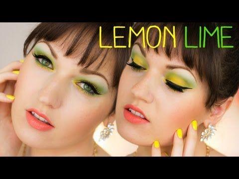 Lemon Lime Makeup   Sommer Look Tutorial - YouTube