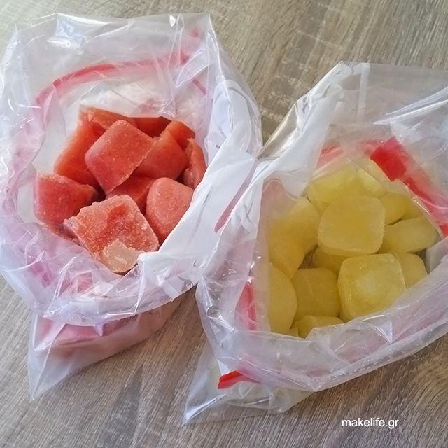 Παγάκια από Λεμόνι και Ντομάτα για την Κατάψυξη