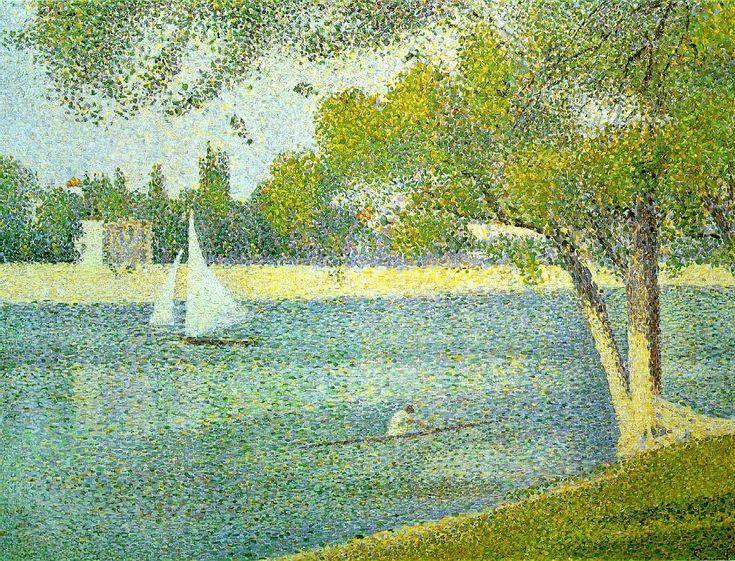 """The Seine at Le Grande Jatte"", 1888. Georges Pierre Seurat, 2 December 1859 – 29 March 1891."