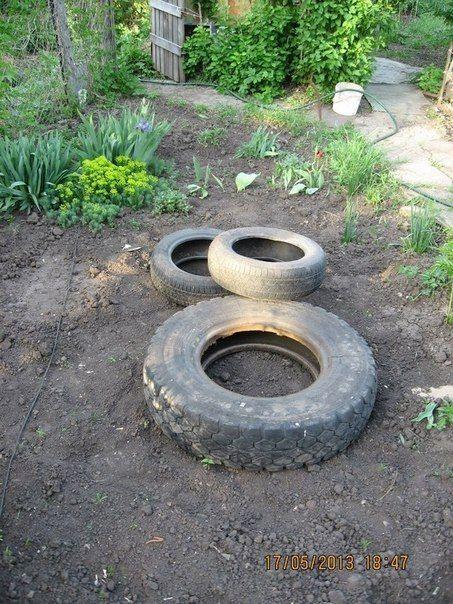 Machen Sie aus einem alten Reifen einen großartigen Teich, bei dem Ihr Mund herunterklappt! - DIY Bastelideen