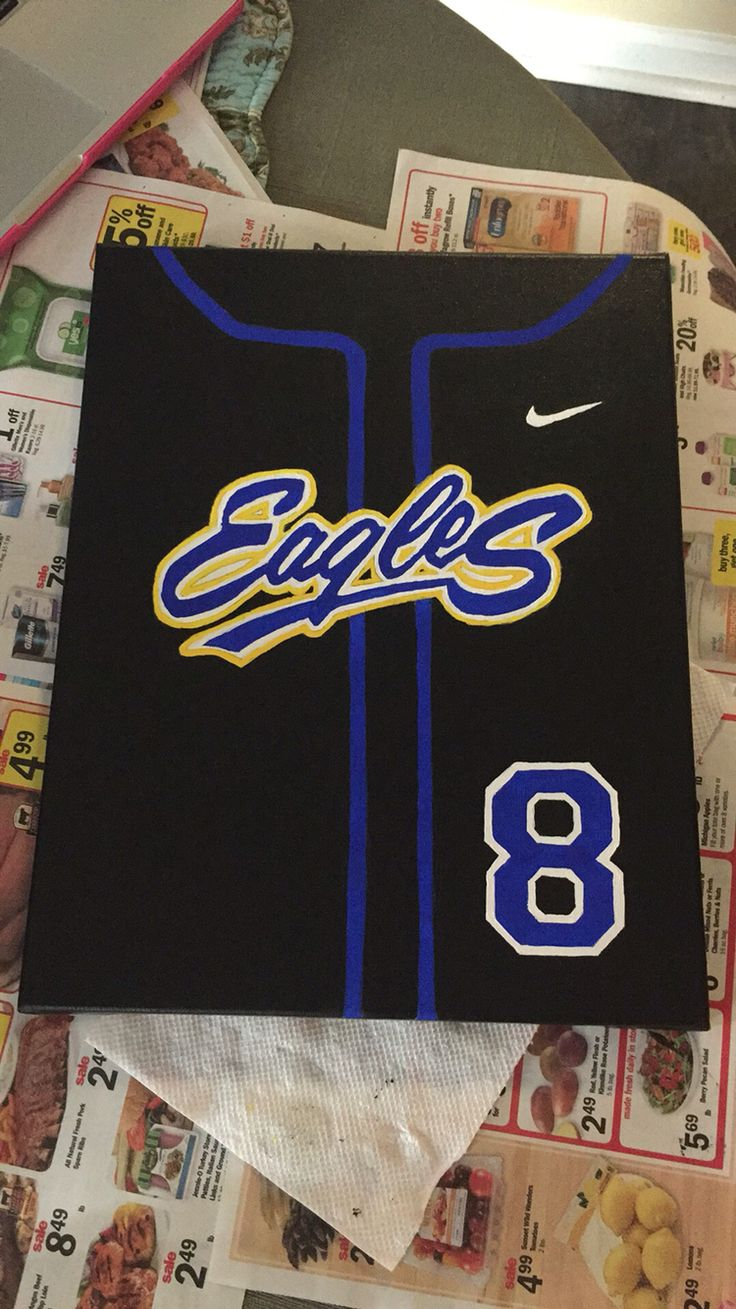 Baseball jersey canvas painting
