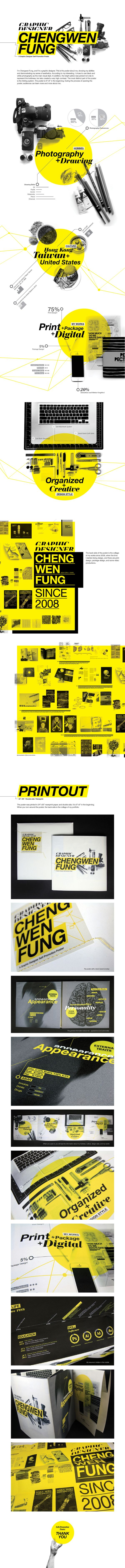 Self-Promotion poster by CHENGWEN fung, via Behance | #webdesign