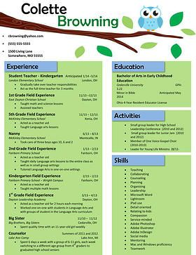 Teacher Resume Templates 11 Best Resume Images On Pinterest  Resume Templates Curriculum