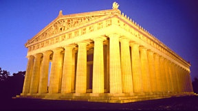 The Parthenon, only full size replica. Already seen the real thing :p