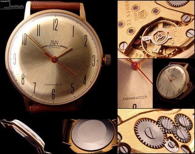 Cоветские часы / «Луч». В 60-х и 70-х мечта интеллигента. Суперплоские!