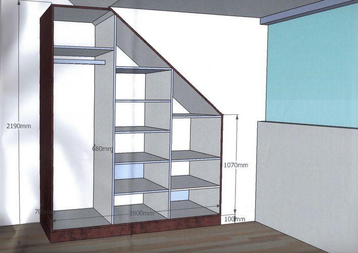 25 beste idee n over zolder kast op pinterest slaapkamer op zolder berging schuin plafond - Opslag voor dressing ...