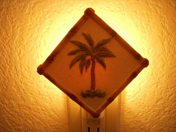 Palm Tree Tiki Bar Light Tropical Night Light Hawaiian Polynesian Nightlight