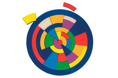 Cirkel *** Deze mooie houten 'cirkel' puzzel van het merk Goki telt 29 stukjes. Felle kleurtjes, speciaal ontwerp en duurzame kwaliteit maken van deze puzzels echte toppers. Verschillende soorten verkrijgbaar bij Meneer Snor.