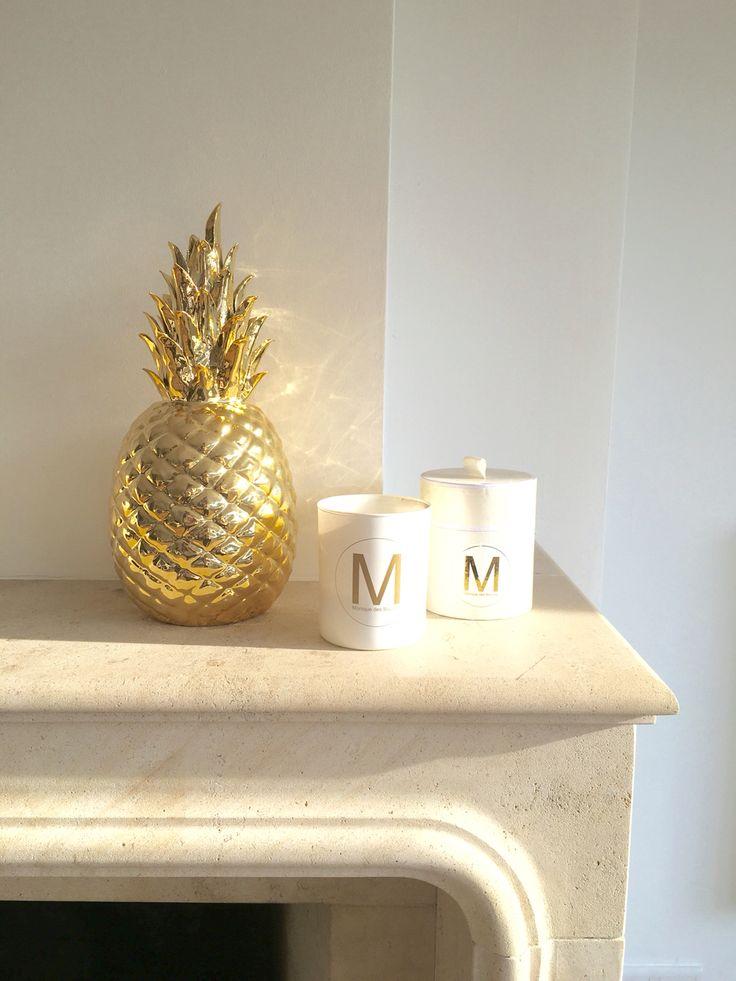 Статуэтка Ананас Pineapple Gold от Pols Potten, glazed porcelain decoration, gold pineapple, decor, ananas, interior accessories decor ideas, design, декор комнаты, фарфор, золотой ананас, аксессуары для дома #polspotten