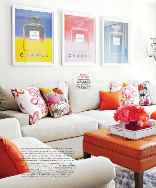 Decor, Bachelorette Pads, Chanel, Living Rooms, Interiors, Livingroom, Studios Couch, Dreams Living Room, Style At Home