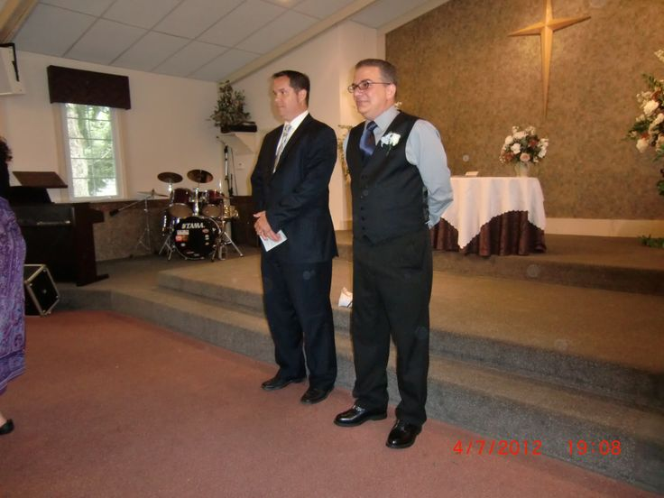 The groom Danny, on left, and the Reverend.