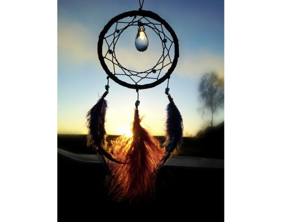Black small Dream Catcher Bohemian Dream by DreamyFlowerWonder