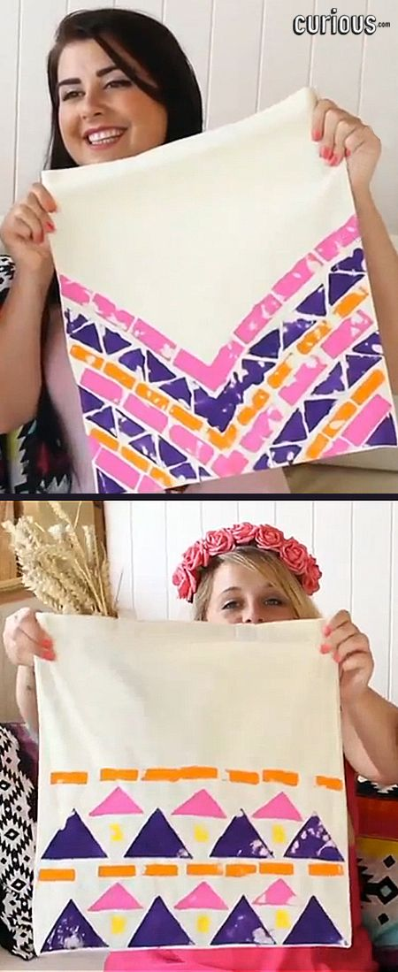 In this crafty lesson, the Bespoke Bride girls show you how to decorate a plain canvas tote bag with Aztec paint patterns!