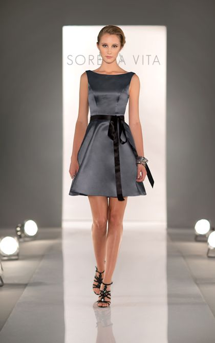 Stunning charcoal bridesmaid dress by sorella vita style for Charcoal dresses for weddings