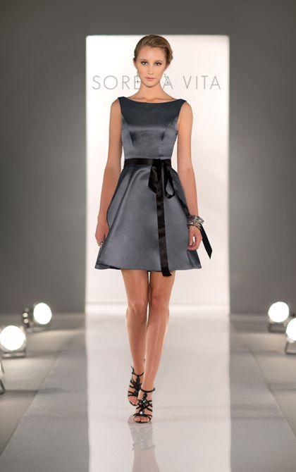 Stunning Charcoal Bridesmaid Dress By Sorella Vita Style